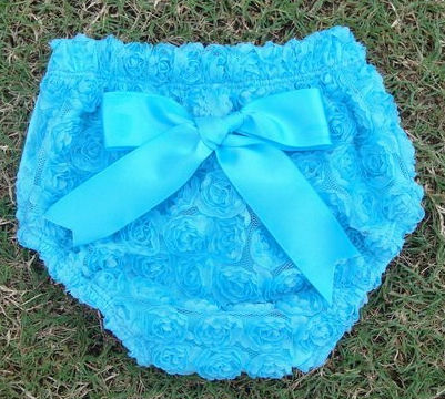 Turquoise Rosette Nappy Cover