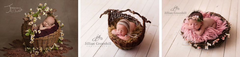 Each basket has been chosen with the newborn baby photographer in mind the baskets are all a great size and